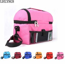 LHLYSGS Brand portable Big capacity Insulated Lunch bags Insulation box Cooler Bags Fresh keeping package Food Bag Picnic Bags