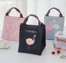 Portable Thermal Lunch Bag bolsa termica Fashion Flamingo Insulated Lunch Box for Kids Men Women Waterproof Picnic Bag