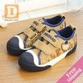 2017 Весной Новые Джинсы Дети Shoes Hook Loop Девочек И Мальчиков Кроссовки Повседневная Холст Резиновые Дети Shoes
