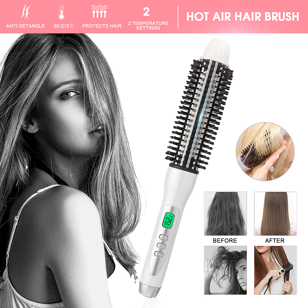 LCD Display Hair Curling Wand Curler Iron Ceramic Anion Hair Curler Deep Hot Air Brush Heating Roller Styler Hair Care Tools hot sale hair curler lcd pro salon automatic hair curling curler ceramic roller wave titanium hair curler waves styler