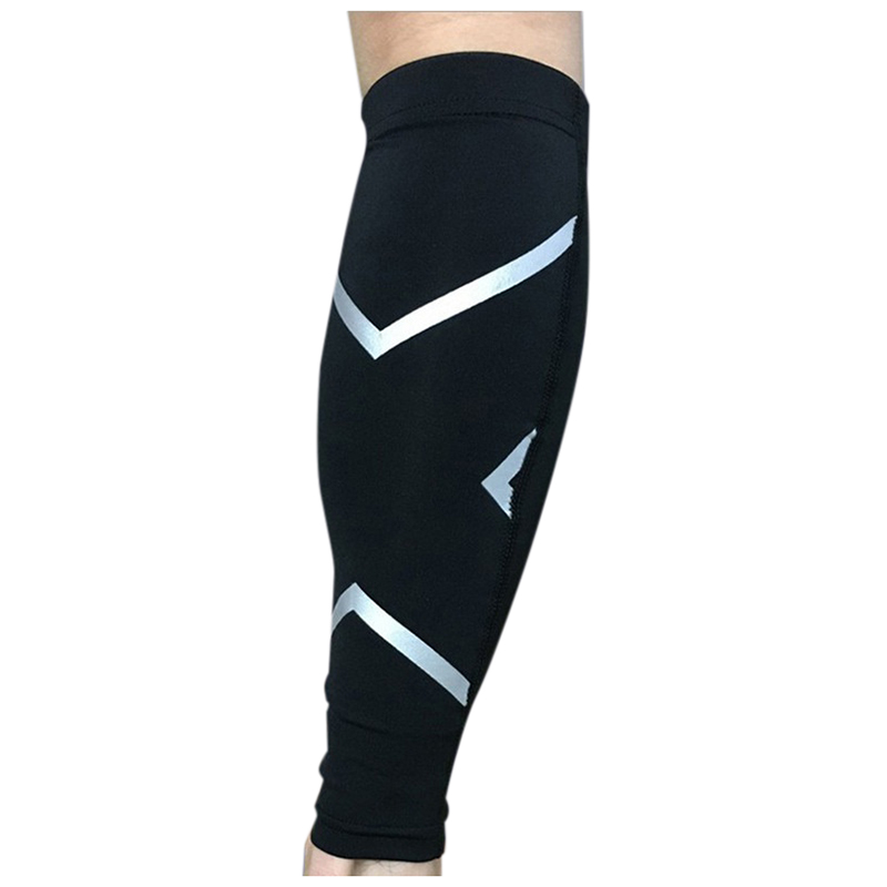 Unisex Black Womens Mens Leg Support Braces Calf Socks Compressions Sleeves Running Basketball Weight Lift Leg Sleeves