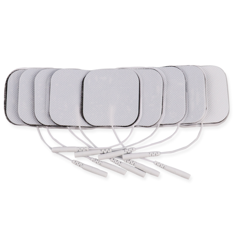Image 5 - 100 Pcs 5x5cm 2mm Plug Reusable electrodes Tens Electrode Pads For Nerve Muscle Stimulator Digital Physiotherapy Massager-in Massage & Relaxation from Beauty & Health