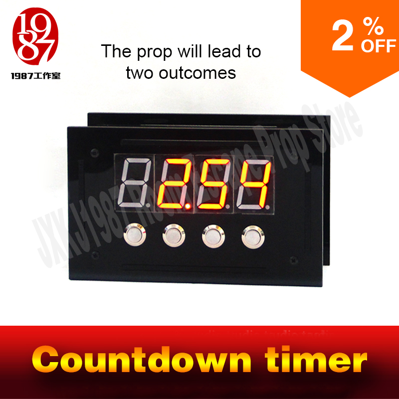 Room escape prop countdown timer enter the password before the countingdown to unlock and  away frm chamber room