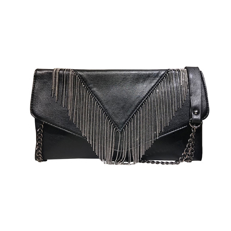 2018 New Fashion Women Design Brand Tassel High-capacity Envelope Crossbody Handbag Ladies Shoulder Clutch Evening Bag For Party naivety new fashion women tassel clutch purse bag pu leather handbag evening party satchel s61222 drop shipping