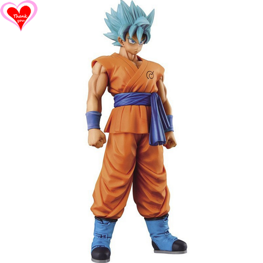 Love Thank You DragonBall Z Goku Super Saiyan Blue PVC Figure 13/28cm Anime Hobbies Collectibles Model toy doll gift NEW love thank you atelier kaguya all rights reserved pvc anime figure toy collectibles model gift new
