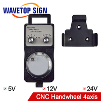 5v12v24v Best price 4 Axis Pendant Handwheel manual pulse generator MPG for Siemens, MITSUBISHI, FANUC etc
