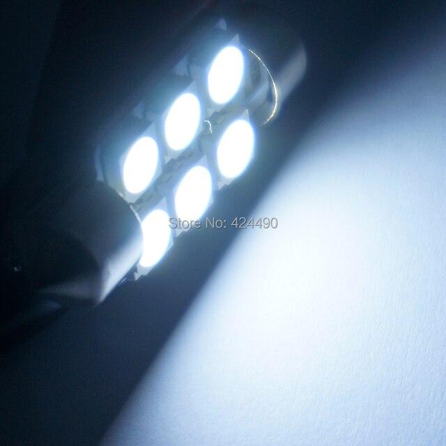 AORUNYEBAO 10 adet Festoon 5050 SMD 6 LED C5W araba Led 31mm 36mm 39mm 41mm iç aydınlatma okuma ışığı tavan aydınlatması kapı ampul 12V