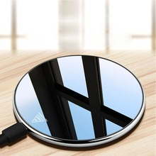 New zinc alloy acrylic mirror disc 10W wireless fast charge Samsung Apple
