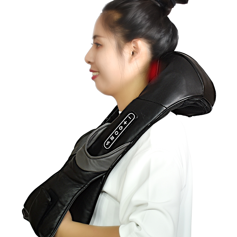 electrical shiatsu infrared heated kneading massager for back neck shoulder and body