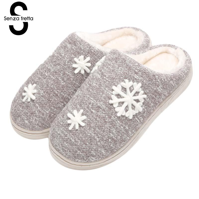 Senza Fretta Men Shoes Loves Slippers Winter Warm Cotton Cloth Slippers Fashion Non-slip Soft Snow Cotton Cloth Slippers Shoes фоторамка senza 20х25 см хром 956444