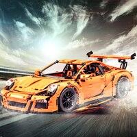 New LEPIN 20001 Technic Series Race Car Model Building Kits Blocks Bricks Compatible Lego 42056 Boys
