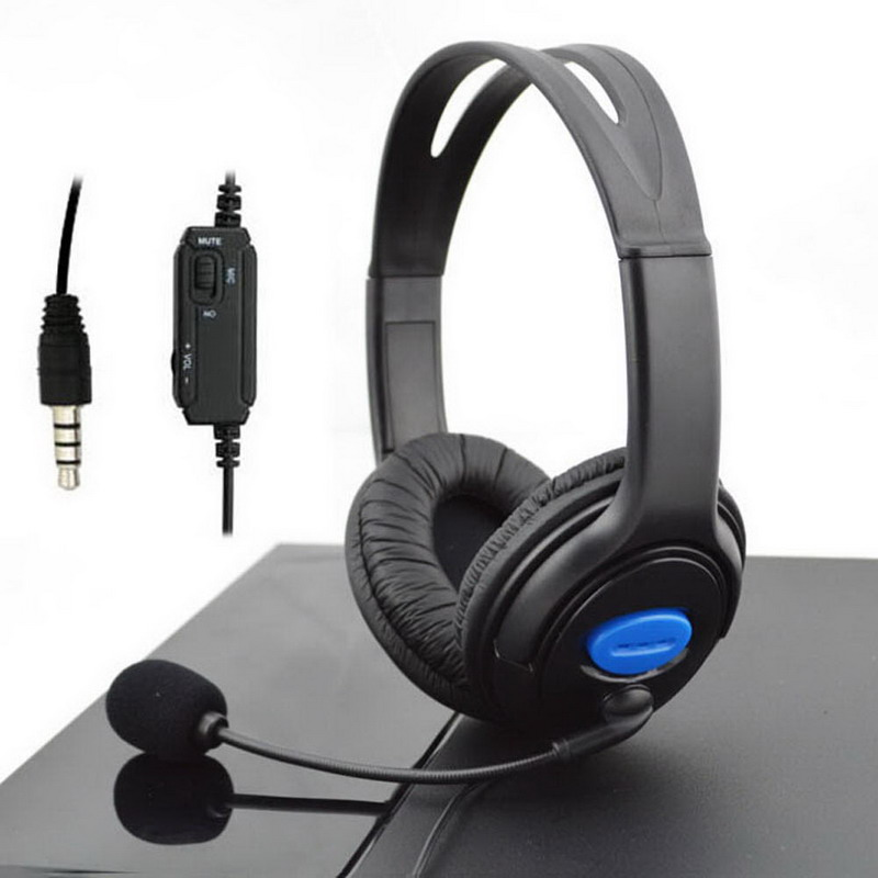 3.5mm Wired Gaming Headset Cuffie con Microfono per PS4 Sony PlayStation 4