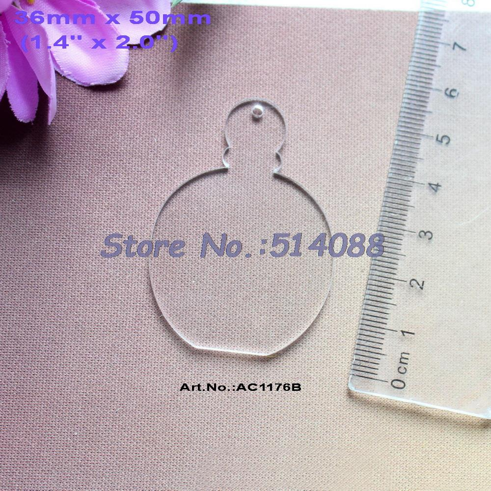 Clear acrylic fillable ornaments -  30pcs Lot 50mm Blank Clear Acrylic Perfumes Bottle Key Chain Gift Ornaments Laser