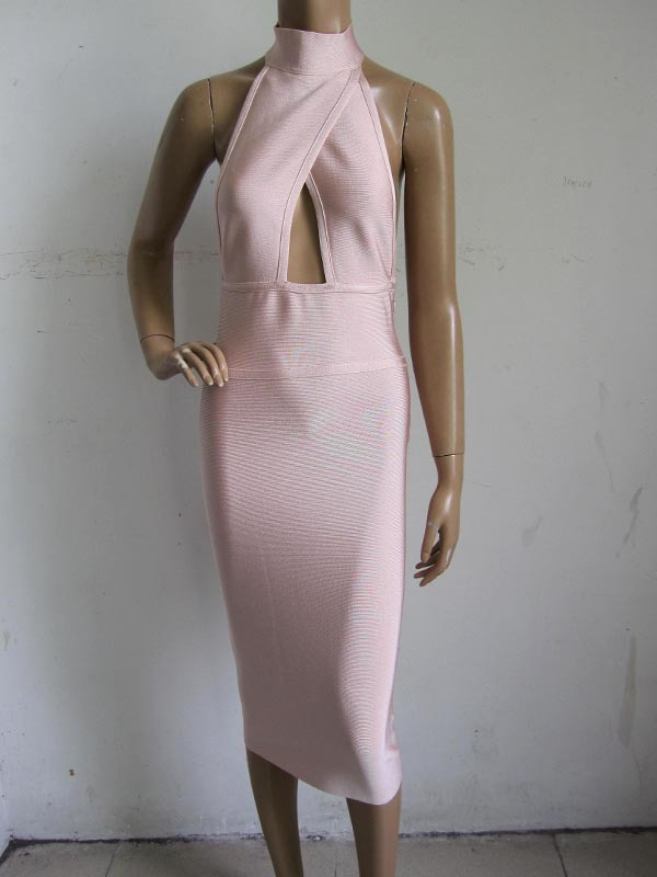 Factory Wholesale New Dress Nude Color Tight Sexy -3813