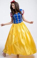 Más el tamaño de traje blanco de la nieve para las muchachas de hadas cuento de cenicienta princesa dress de halloween cosplay ropa de fiesta de baile
