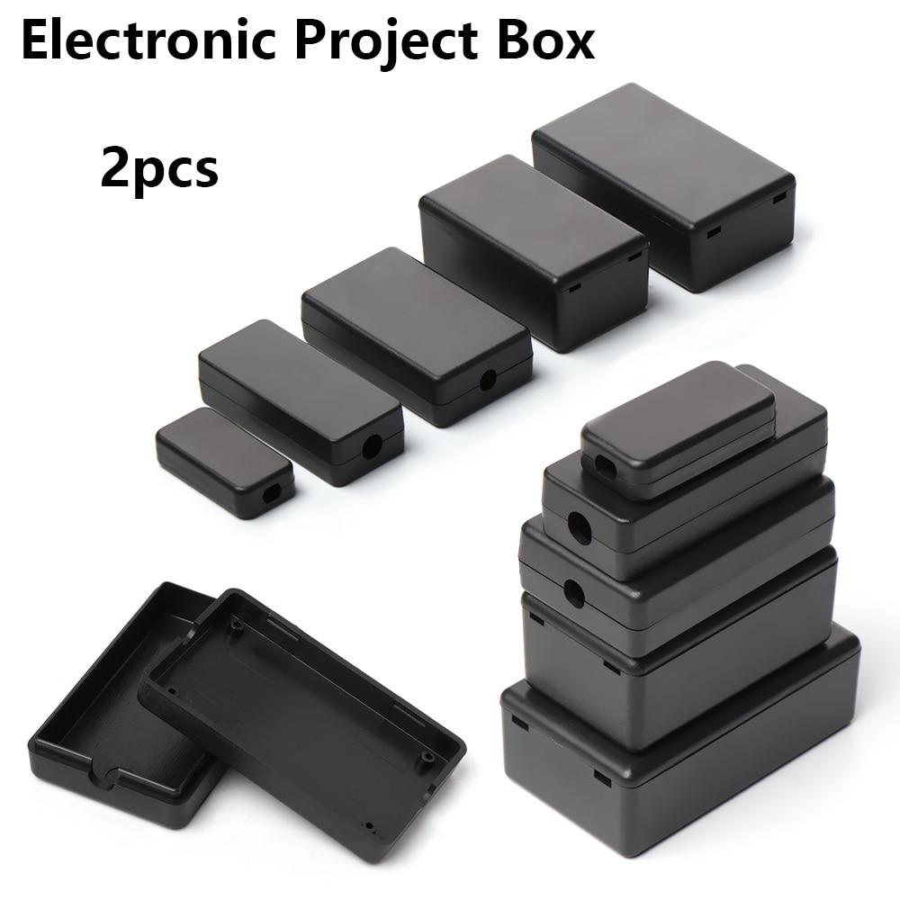 Новинка, 2 шт., водонепроницаемый, черный, DIY корпус, чехол для инструментов, ABS пластик, проект, коробка, чехол для хранения, корпус, коробки, электронные принадлежности