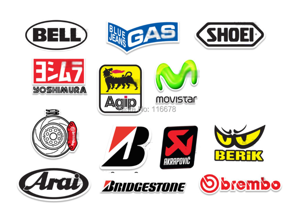 X JDM HellaFlush BELL SHOEI Yoshimura Agip MOVISTAR Brembo - Bridgestone custom stickers motorcycle