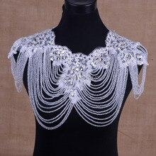 Продажи нового кристалла старинные плеча цепи ожерелье невесты свадебные аксессуары винтаж плечевой ремень большой кружева ожерелье новые ювелирные изделия