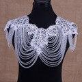 Venta nueva cadena de hombro de la vendimia de novia accesorios de la boda collar de cristal correa de hombro de la vendimia grande de encaje collar de la nueva joyería