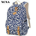 XQXA Feather Printing Girl School Bags For Teenagers Cute Canvas Women Backpack Mochila Feminina Casual Bag School Backpack