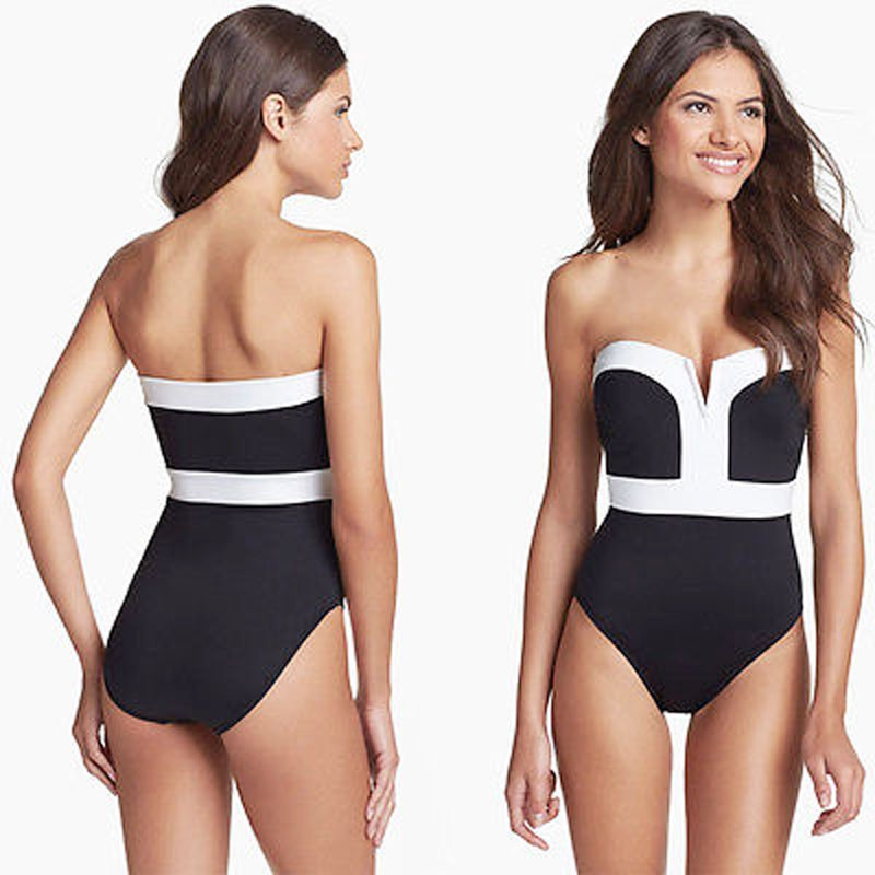 Black And White One Piece Bathing Suits Women | soft ...