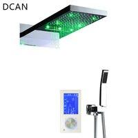 Dcan цифровой термостат Сенсорный экран светодиодный душ комплект 22 водопад контроллера Smart Душ Наборы для ухода за кожей массаж Для ванной и