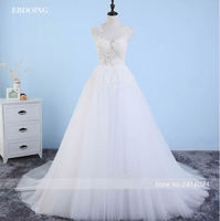 Satin Bateau Neckline See Through Wedding Dresses With Beaded Lace Appliques Vestidos De Novia