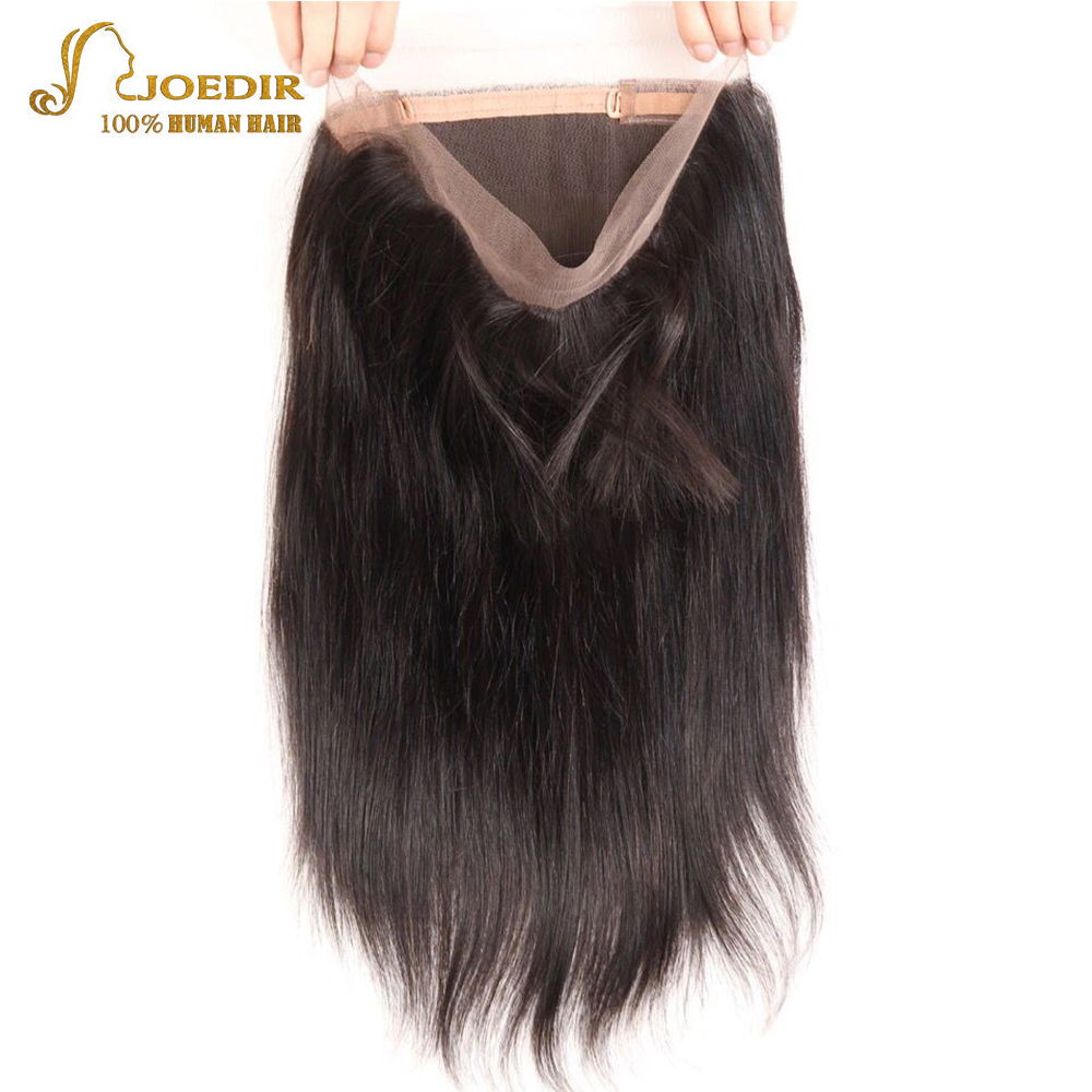 Ingenious Joedir Lace Frontal Closure Brazilian Straight Hair 360 Frontal Remy Human Hair Natural Color Free Part 12-18 Inch Free Ship Human Hair Weaves
