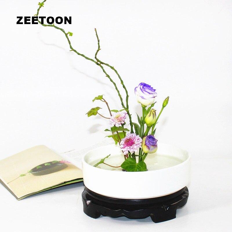 Japanese Vase Coarse Pottery Flower Pot Ikebana Tabletop