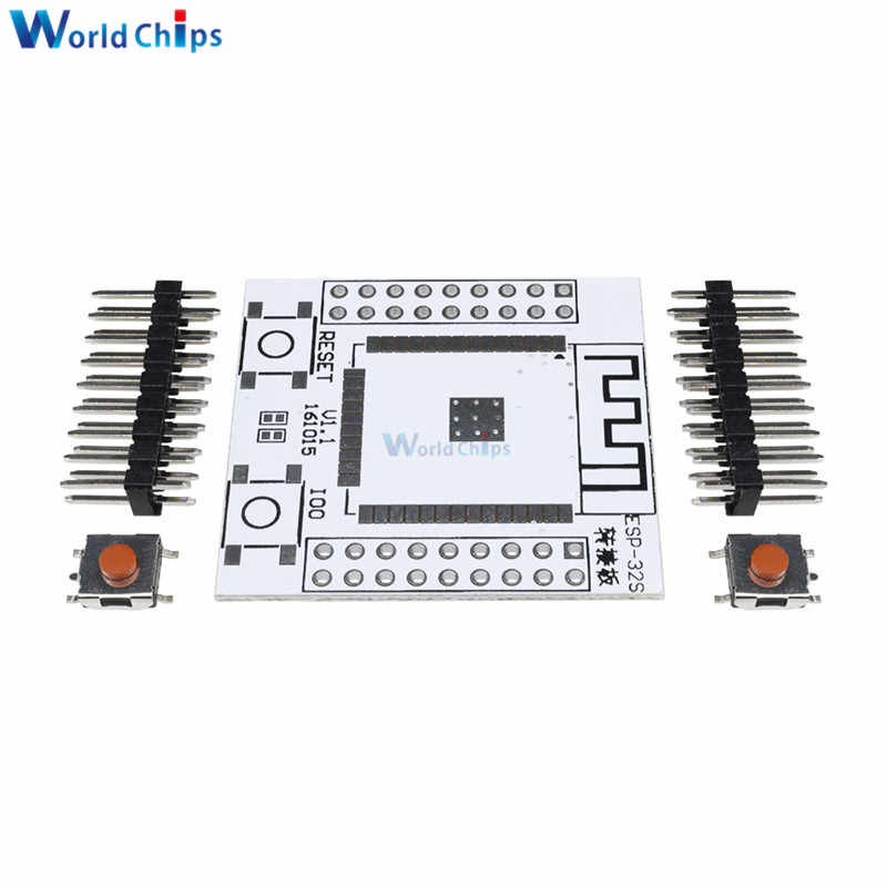 2PC ESP32 ESP32S IO Adapter Base Board Pinboard Converter With 4 Row Pins  For ESP-32S Wireless WiFi Bluetooth Module For Arduino