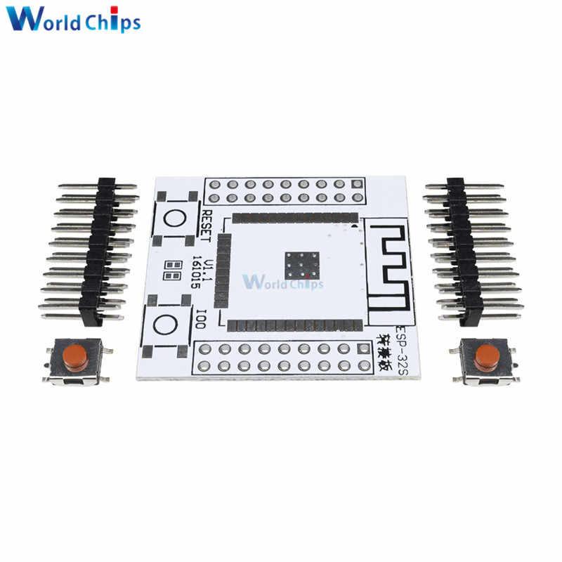 2PC ESP32 ESP32S IO adaptateur carte de Base convertisseur avec 4 broches de rangée pour ESP-32S sans fil WiFi Bluetooth Module pour Arduino