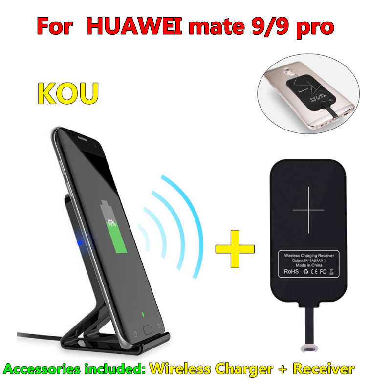 10W Original Qi Wireless Charger for HUAWEI mate 9 Charging Pad with Dual USB Charging Adapter for HUAWEI MATE 9 Pro
