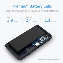 Power Bank 10000mAh Style LED Display Portable External Battery Universal USB Battery Charger With Cable for iPhone Samsung