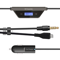 Univeral FM Transmitter Modulator Car Mp3 Player With Two Car Charger USB 3 5mm Jack Audio