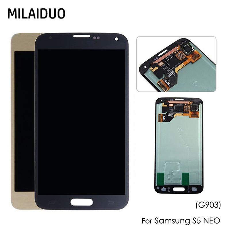 AMOLED Per Samsung Galaxy S5 Neo G903 G903F G903FD LCD Display OLED Touch Screen Digitizer Assembly Nero Bianco OroAMOLED Per Samsung Galaxy S5 Neo G903 G903F G903FD LCD Display OLED Touch Screen Digitizer Assembly Nero Bianco Oro
