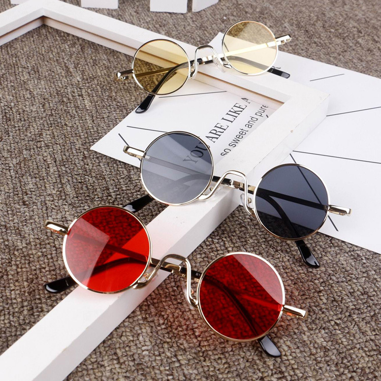 2018 Fashion Cute Children Sunglasses Cute Kids round punk Sun Glasses Girls Summer Style UV400 Children's party glasses uv400NX