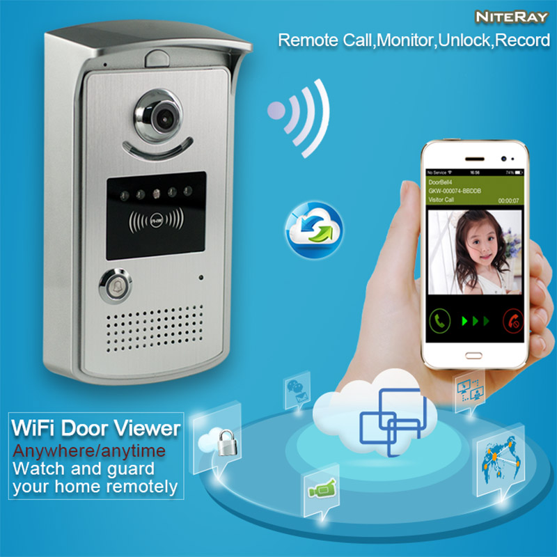 Free Ship video door phone and camera WiFi digital viewer intercom doorbell with camera wireless ip camera door eye outdoor use digital video intercom door phone doorbell wireless camera doorbell ip intercom video door bell phone eye hole door viewer