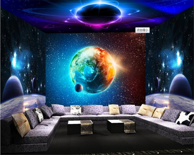Beibehang Wallpapers For Living Room Cool Cosmic Star 3D