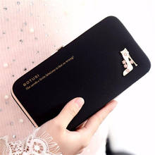 Women's Wallets Cluch Handbags Famous Brand New Designed Women High Heels Wallet Purse Phone Package Luxury Women Bags Bolsa