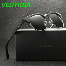 VEITHDIA Brand Aluminum Magnesium Men's Sunglasses Polarized Blue Coating Mirror Driving Sun Glasses Eyewear For Men Women 6690