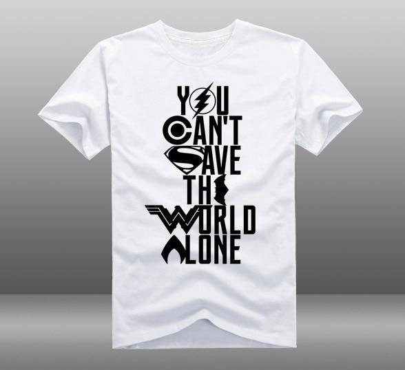 f051799ea8e Justice League superhero T-shirt batman spider man Men t-shirt Summer Short- sleeve Cotton