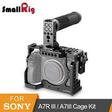 SmallRig Cage Kit for Sony A7R III/A7III Camera Cage With Top NATO Handle(Rubber)+NATO Rail +HDMI Cable Clamp -2096