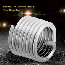 50Pcs/Lot 304 Stainless Steel Coiled Wire Insert Helical Screw Thread Inserts M8 x 1.25 1.5D Length Repair