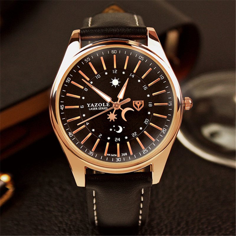 Men s Watch Belt Noctilucent PU Leather Waterproof Business Watches Men Watch Wholesale YD368