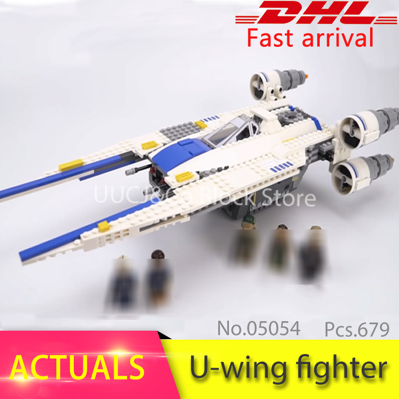 LEPIN HOT 05054 679Pcs Rebel U-Wing Fighter Model Building Blocks Set Bricks Educational Toys For Children Gift 75155 kit toys конструктор lepin star plan истребитель повстанцев u wing 679 дет 05054