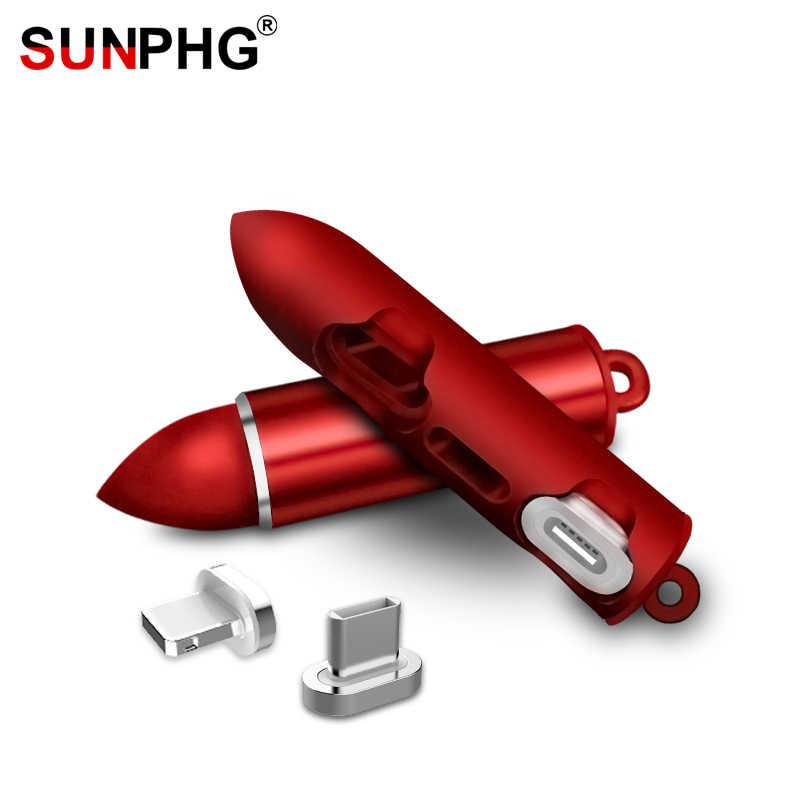 SUNPHG Магнитный кабель разъем коробка для хранения типа C Micro USB кабель магнитный наконечник мини Чехол Microusb type-c iso вилки Органайзер