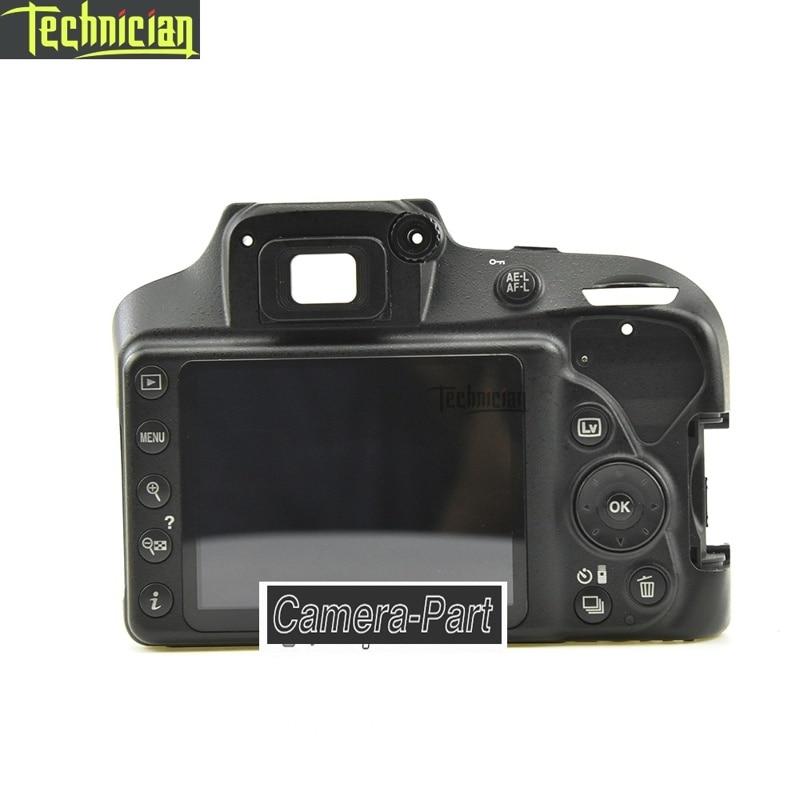 D3400 traseira capa com lcd e botão chave câmera peças de reparo para nikon