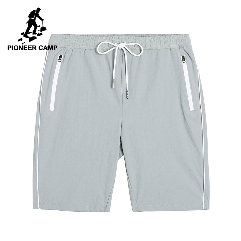 Pioneer camp new casual shorts men brand clothing simple solid short pants thin cool quality high stretch bermuda male ADK801170