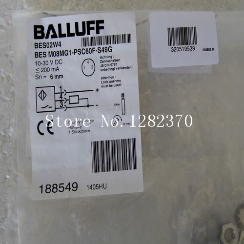New original authentic BALLUFF sensor BES M08MG1-PSC60F-S49G spot 188549 --2PCS/LOT [sa] new original special sales balluff sensor bes m12mg psc80f bv02 spot 2pcs lot