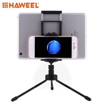 HAWEEL Phone Holder Multi-function Aluminum Alloy Tripod Mount Holder Stand For iPad, iPhone Samsung,other Smartphones & Tablets цена и фото